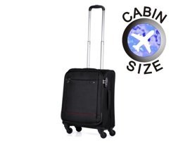Mała walizka PUCCINI EM-50680 Ultralight Plus czarna