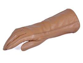 Rękawiczki damskie PUCCINI D-15122 jasno brązowe