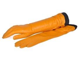 Rękawiczki damskie PUCCINI D-1540 żółte długie
