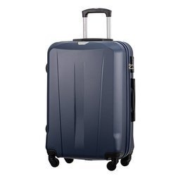Średnia walizka PUCCINI ABS03 Paris granatowa