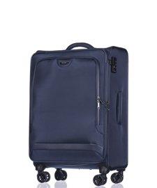 Średnia walizka PUCCINI Copenhagen EM-50420 B granatowa