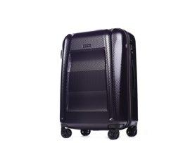 Średnia walizka PUCCINI PC017 New York fioletowa