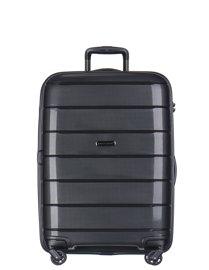 Średnia walizka PUCCINI PP013 Madagaskar czarna