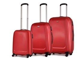 Zestaw trzech walizek PUCCINI ABS01 Barcelona czerwony