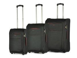 Zestaw trzech walizek PUCCINI EM-50307 Camerino czarny