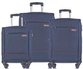 Zestaw trzech walizek PUCCINI EM-50720 Parma granatowy