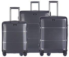Zestaw trzech walizek PUCCINI PC021 Vienna ciemny szary