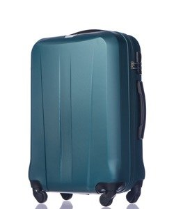 Duża walizka PUCCINI ABS03 Paris ciemnozielona