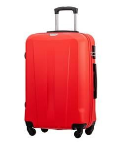 Średnia walizka PUCCINI ABS03 Paris czerwona