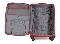 Średnia walizka PUCCINI EM-50250 B NEW czerwona