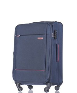 Średnia walizka PUCCINI EM-50720 Parma granatowa