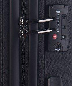 Średnia walizka PUCCINI PP012 Acapulco czarna