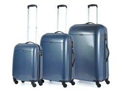 Zestaw walizek PUCCINI PC005 Voyager ciemnoniebieski