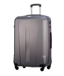 Duża walizka PUCCINI ABS03 Paris szary antracyt